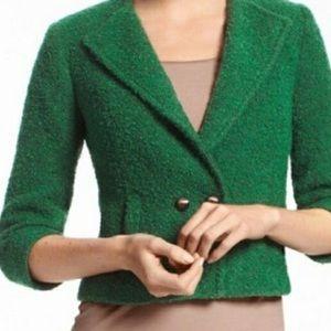 CAbi Green Ivy Tweed Blazer